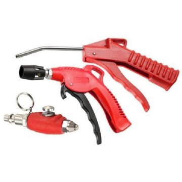 3pc Air Blow Gun Set Standard Mini & High Flow Neilsen CT4697
